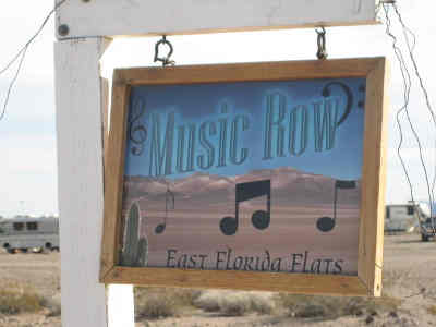 Imperial Dam LTVA - Music Row Sign