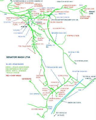 Imperial Dam Map
